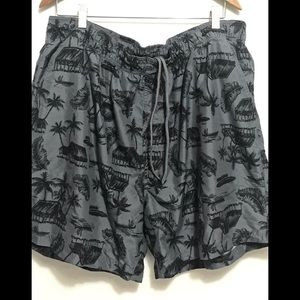 OP men's swim trunks 2XL Grey Graphic